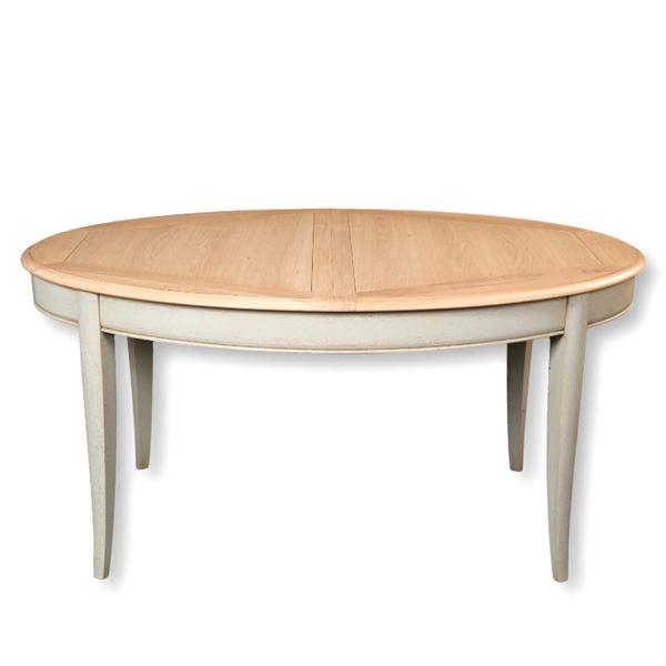 Gontier - Table ovale extensible en chêne 100% Fabrication Française