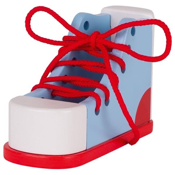 Goki - Chaussure à lacer en bois