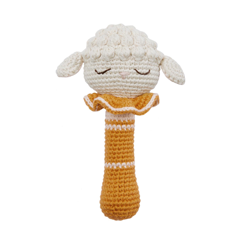 Patti Oslo - Hochet en crochet Agneau