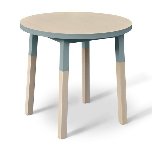 Mon petit meuble français - Table ronde 100% frêne massif 80x80 cm
