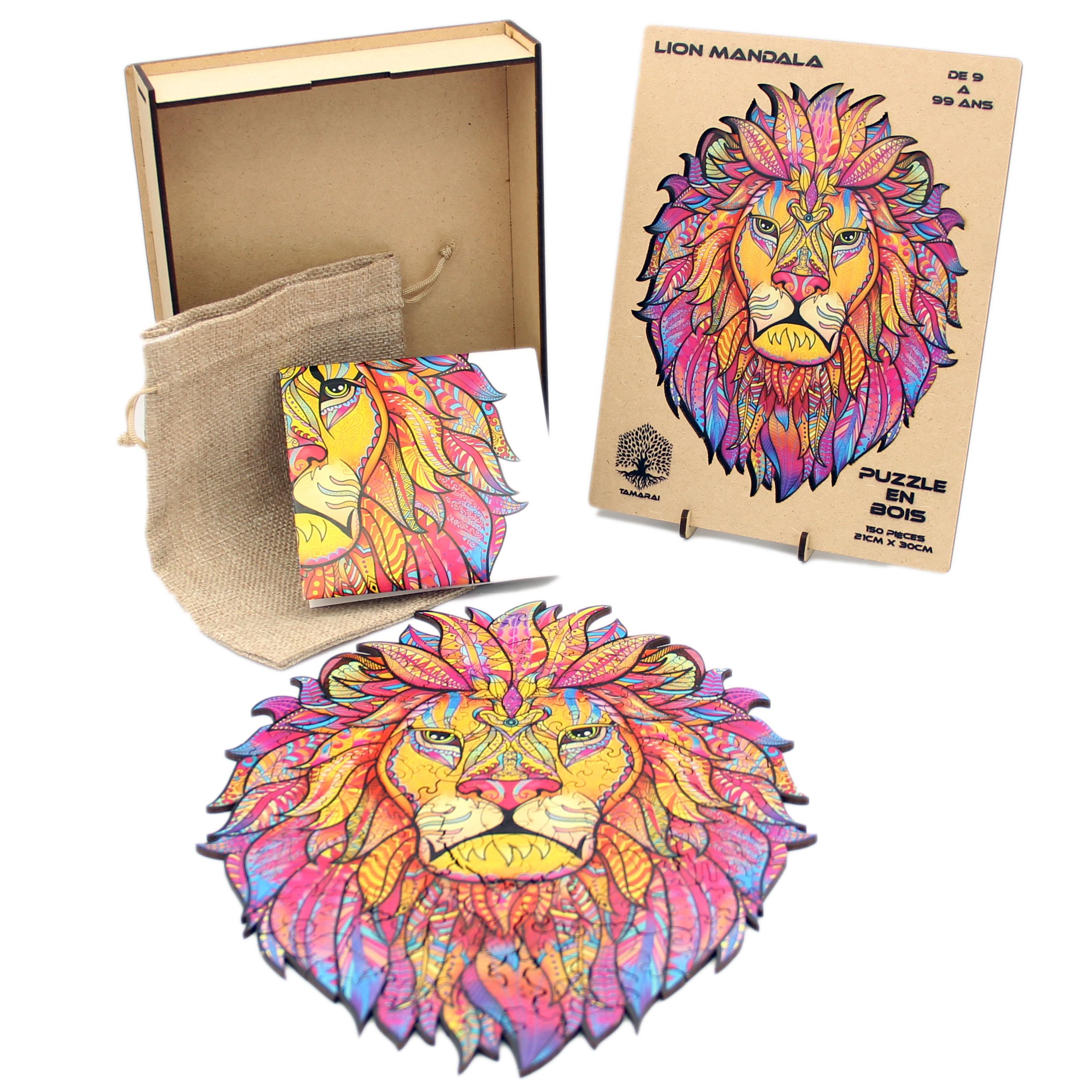 Zwood - Puzzle animaux en Bois Pour Adultes, Puzzle Animal LION