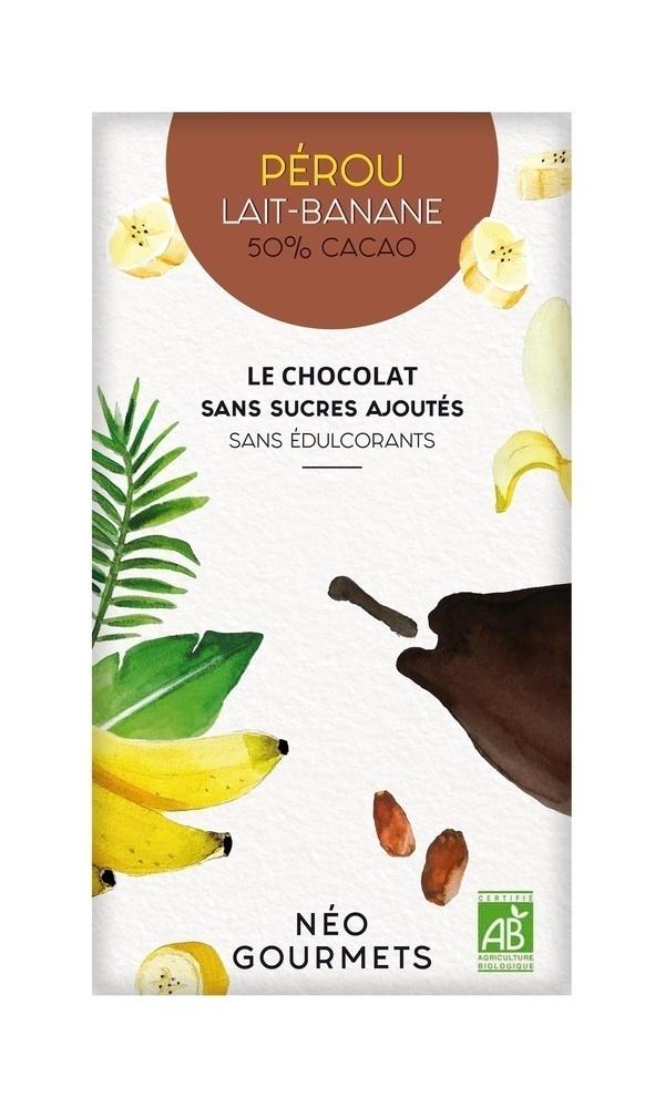 NéoGourmets - Pérou Lait-Banane 50% Cacao - Chocolat au lait 70g