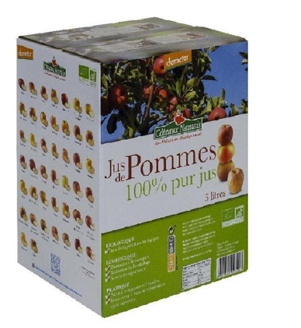 Côteaux Nantais - Jus de pommes Bio Demeter - 5L
