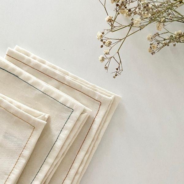 ernest&lulu - Lot de 3 mouchoirs en tissu bio - collection simone&francis