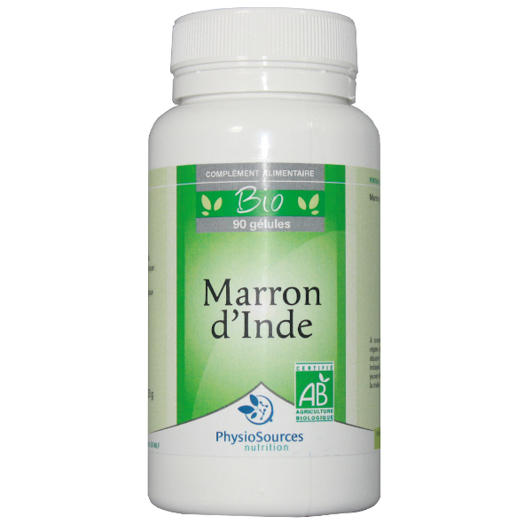 Physio Sources - BIO MARRON D'INDE 90 gélules végétales 240 mg