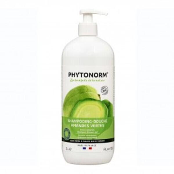 Phytonorm - Shampooing-Douche Amandes Vertes 1L Bio