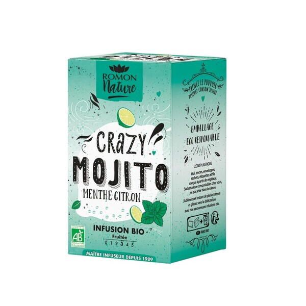 Romon Nature - Infusion Crazy Mojito bio - 16 sachets