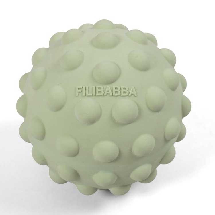 FILIBABBA - Balle sensorielle Pil en caoutchouc naturel Pistache