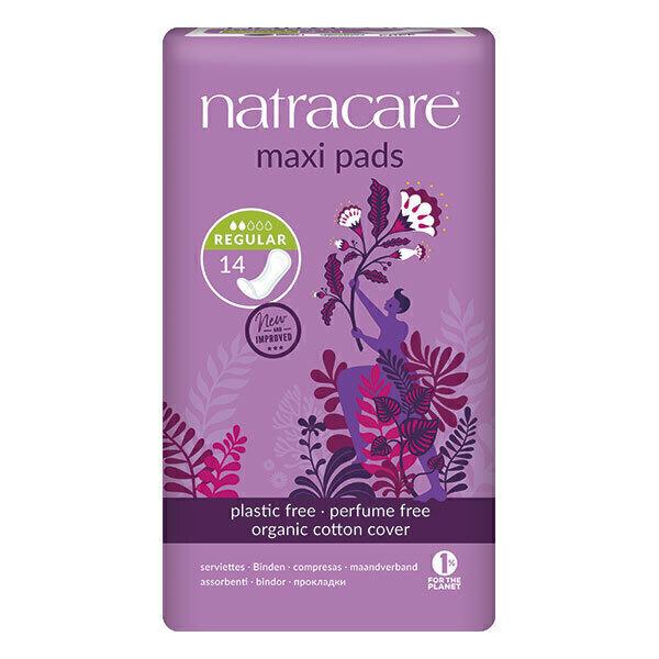 Natracare - Lot de 3 boites de serviettes maxi Regular x14