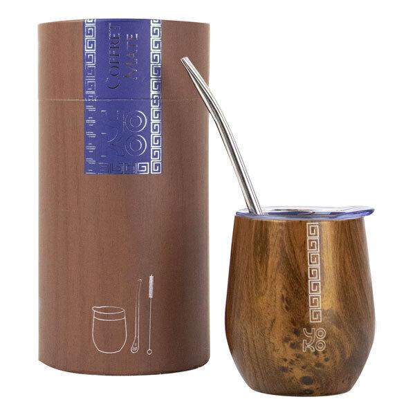 Yoko Design - Coffret Maté avec mug isotherme et accessoires