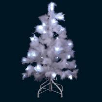 Blachère Illumination - Árbol de Navidad LED Plumas Blancas 80cm