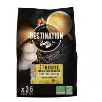Destination - Moka pur arabica Ethiopie Dosettes souples x36