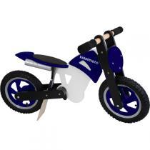 Kiddimoto - Blue Black & White Scrambler - Balance Bike