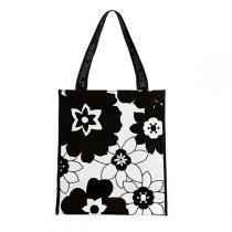 Rolser - Einkaufstasche Mountain FLOR schwarz-weiß
