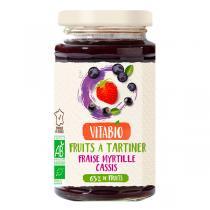 Vitabio - Confiture Délice Fraise-Myrtille-Cassis Bio 290g