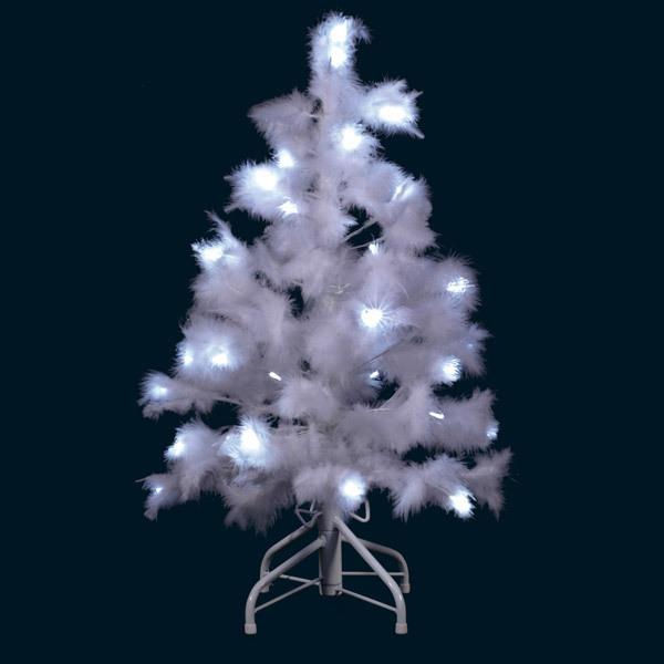 Blachere Illumination - Albero di Natale Led Piume bianche 80 cm