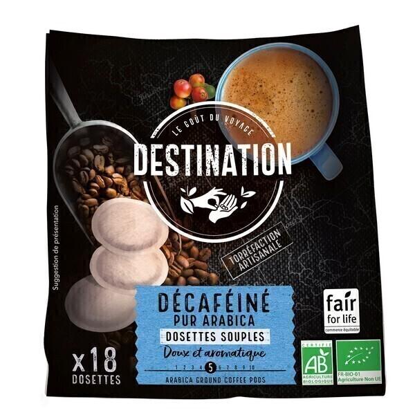 Destination - Décafeiné pur arabica Dosettes souples x18