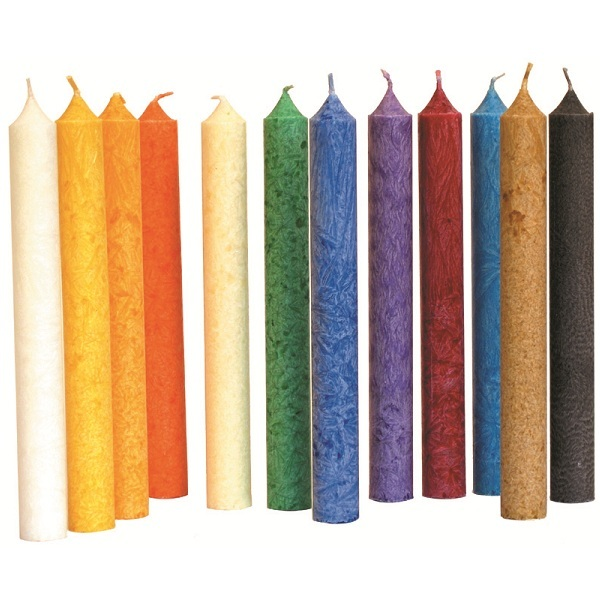 Blue - 12 Organic Stearine Candles 10 Colours