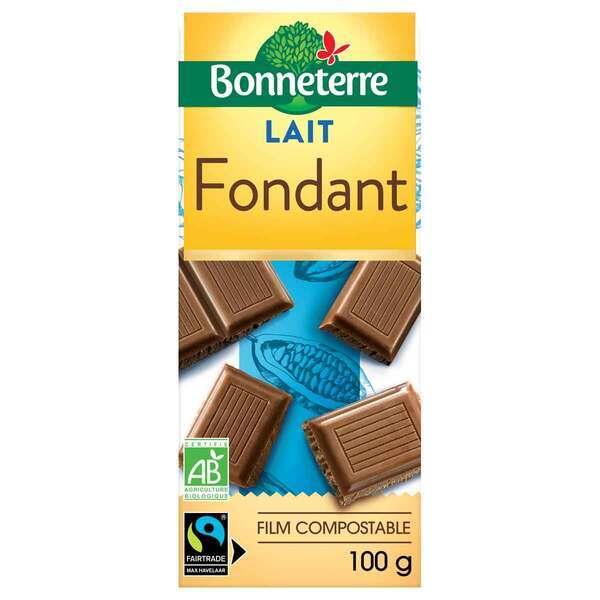 Bonneterre - Tablette chocolat lait fondant 100g