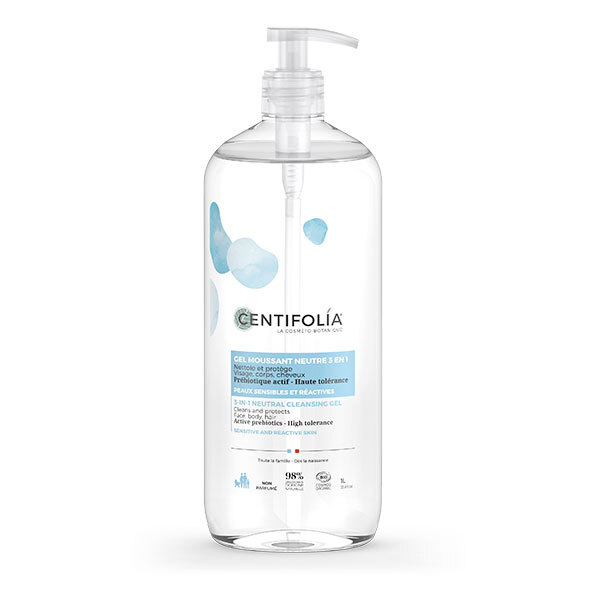 Centifolia - Gel moussant neutre 3en1 1L