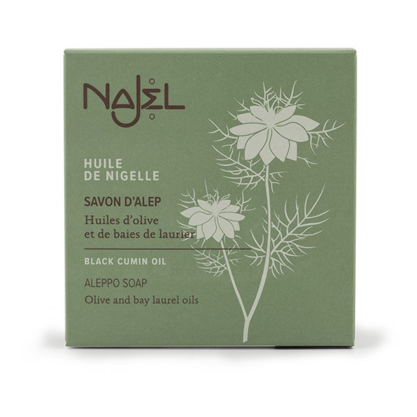 Najel - Savon d'Alep à l'huile de nigelle 100g