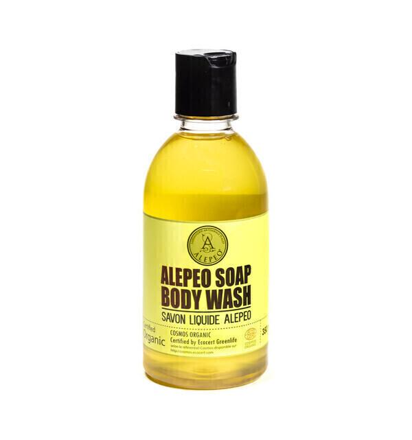 Alepeo - Savon d'Alep liquide bio 350ml visage et corps
