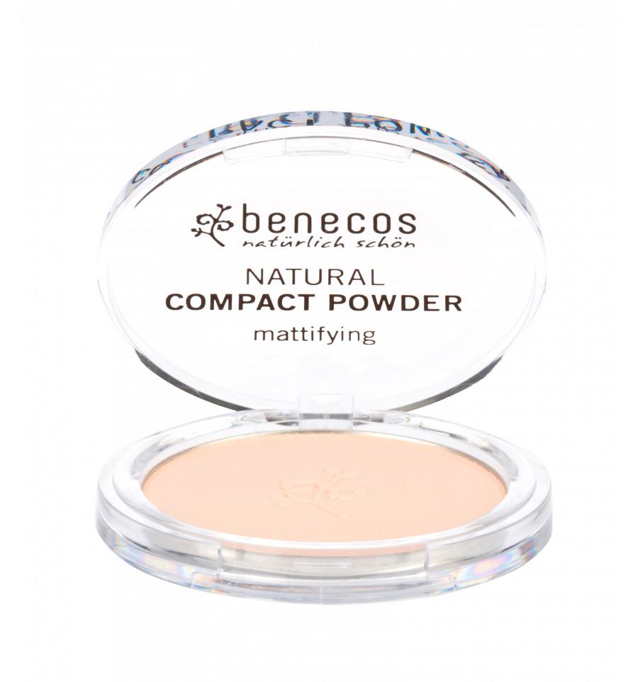 Benecos - Poudre Compacte Bio 9gr - Teinte Porcelain - Benecos
