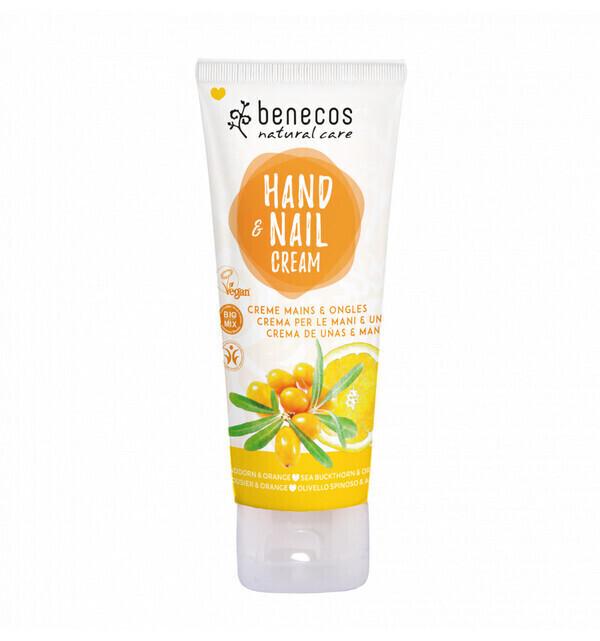 Benecos - Crème mains et ongles Bio Argousier et Orange 75ml - Benecos