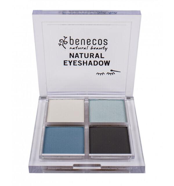 Benecos - Fard à paupières 4 couleurs Bio - True Blue - Benecos
