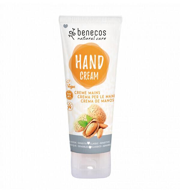 Benecos - Crème mains bio Classique Peaux Sensibles 75ml - Benecos
