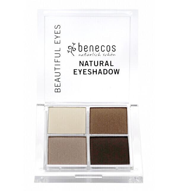 Benecos - Fard à paupières 4 couleurs Bio - Coffee and Cream - Benecos