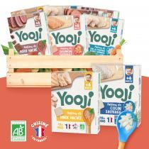 Yooji - Purées de viandes BIO et poissons MSC - 6 variétés - bébé 6 mois