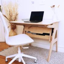 Omni Design - Bureau ergonomique assis-debout blanc L90cm