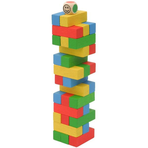 Mik toys - Jeu Jenga en bois de poche