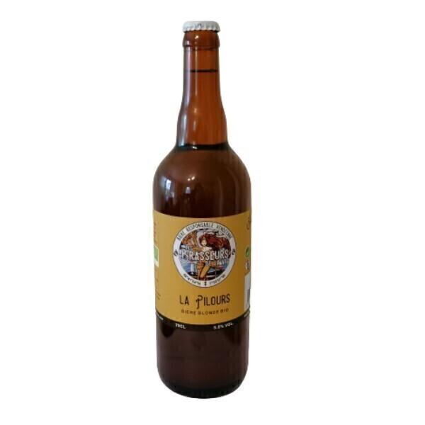 Vinaccus - bière blonde bio, la pilours - 1 bouteille de 75cl