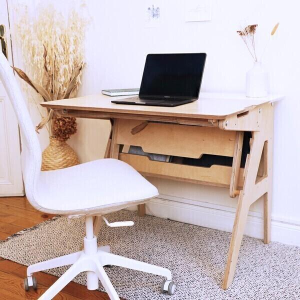 Omni Design - Bureau ergonomique assis-debout blanc L118cm