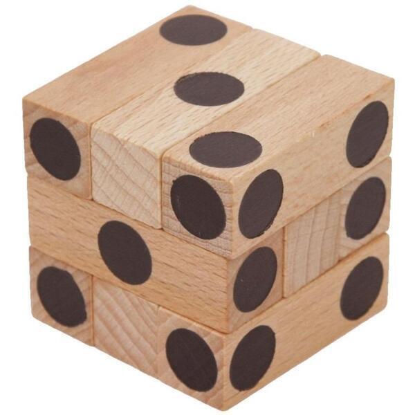 Mik toys - Cube Casse-tête en bois - Dé