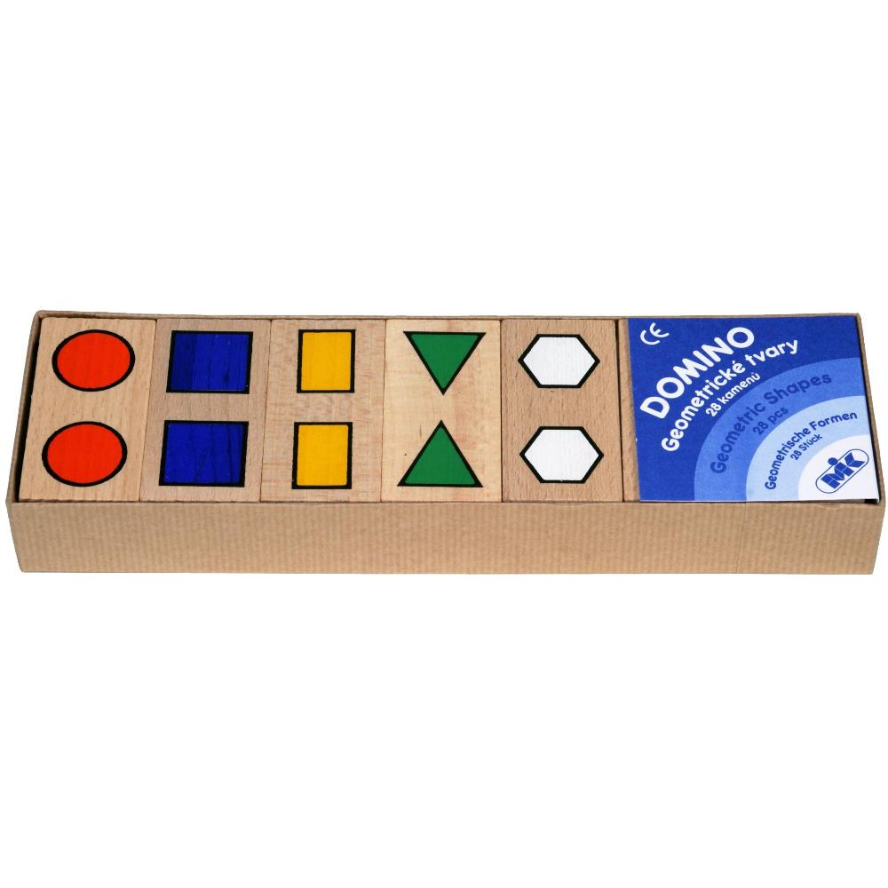Mik toys - Jeu de Domino en bois à formes géométriques