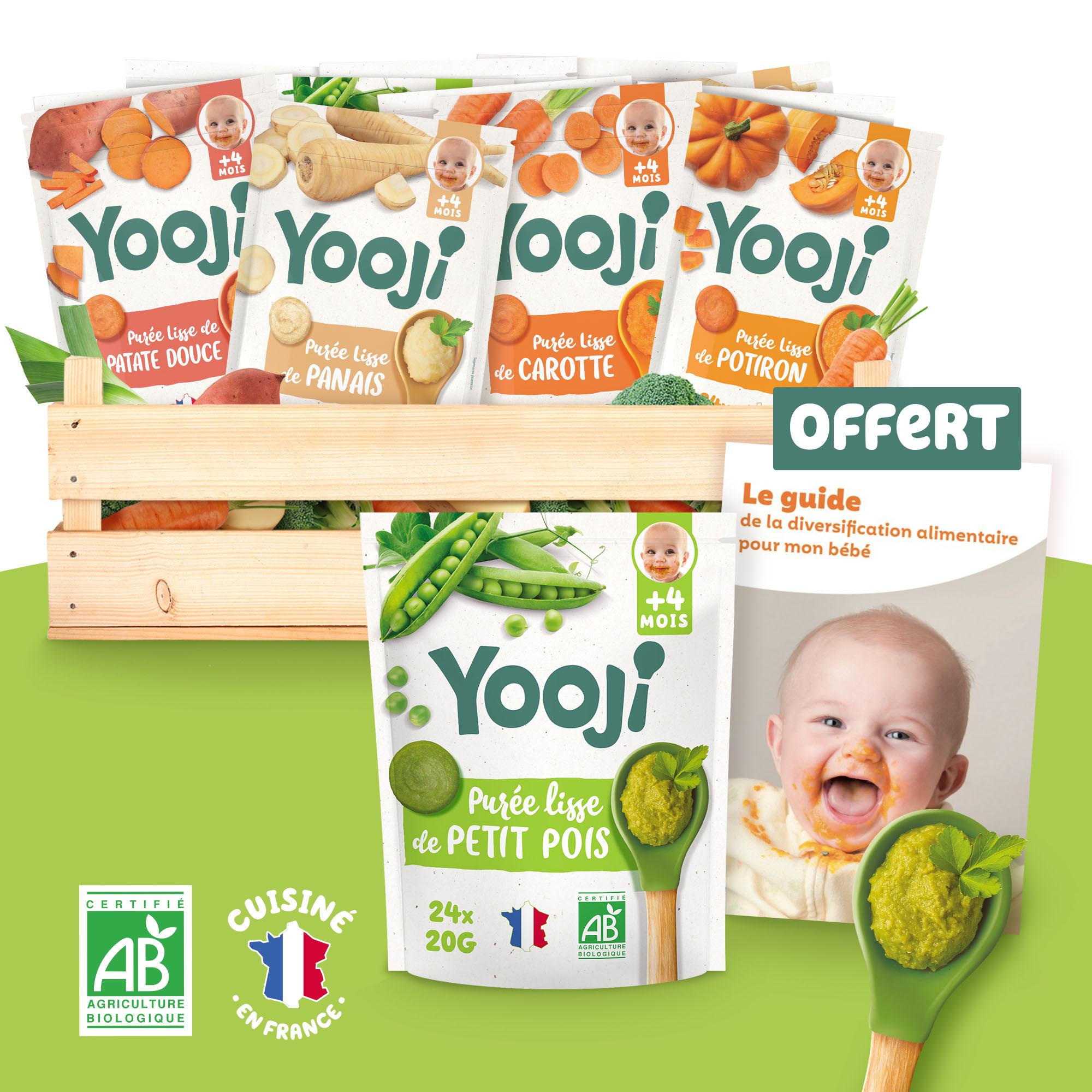 Yooji - Panier spécial diversification alimentaire - purées bébé 4 mois