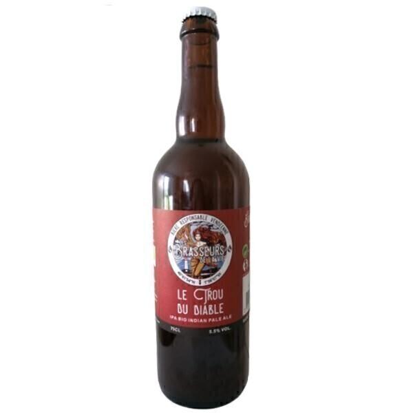 Vinaccus - IPA bio bière blonde le trou du diable - 1 bouteille de 75cl