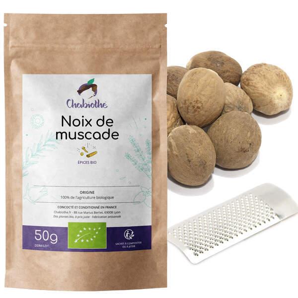 Chabiothé - Noix de muscade Bio 50g + rape