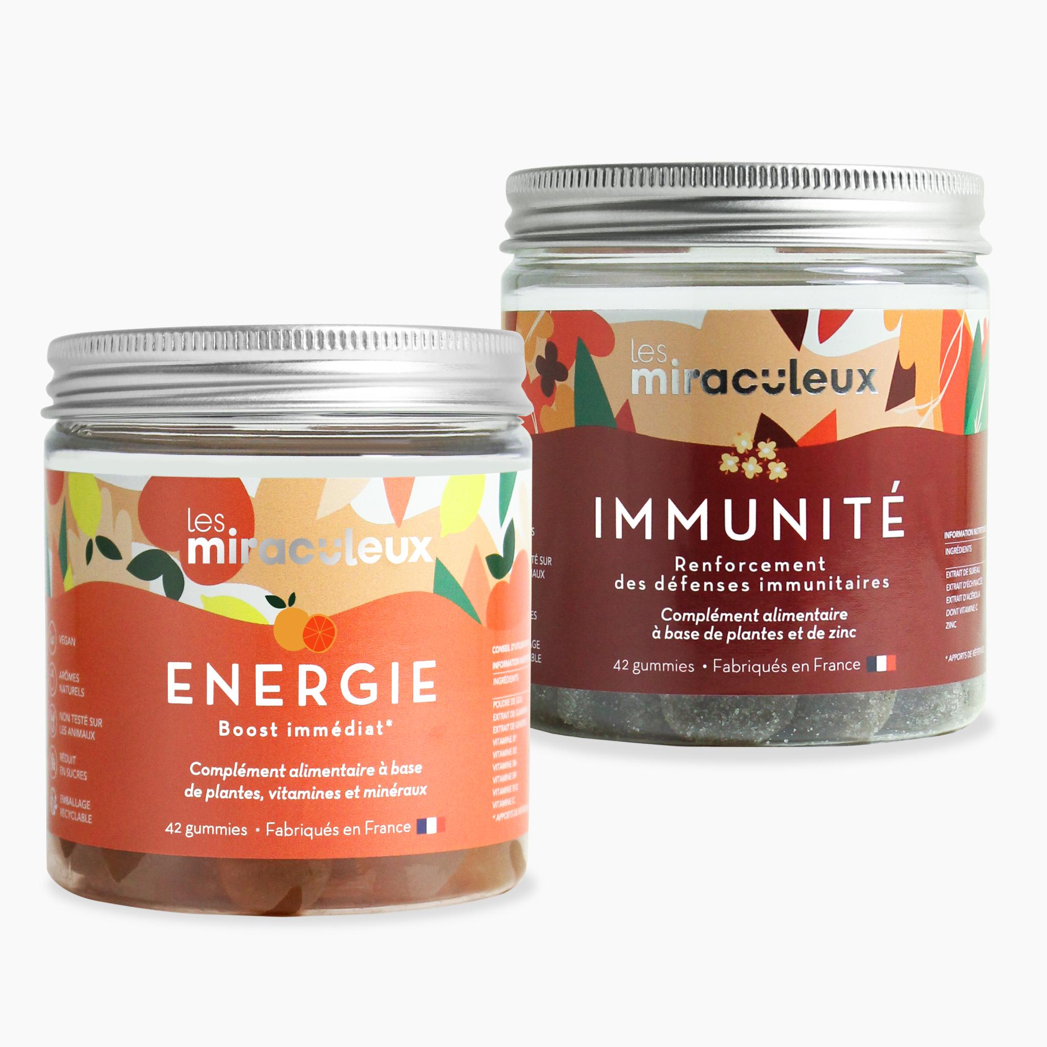 Les Miraculeux - Gummies Énergie + Immunité   2 x 21 jours