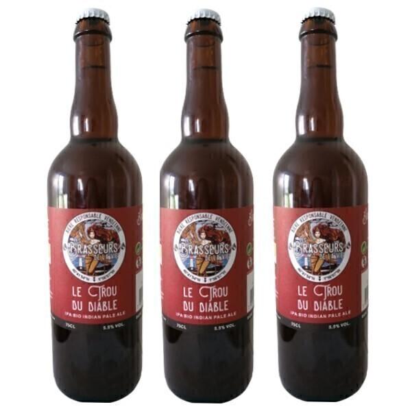 Vinaccus - IPA bio bière blonde le trou du diable - 3 bouteilles de 75cl