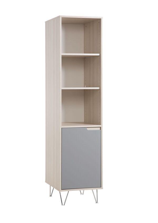 Geuther - Etagère haute Marit naturel et gris 58 x 46 x 194 cm