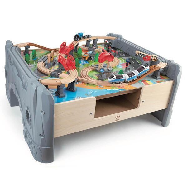 Hape - Grand circuit de train avec table de jeu