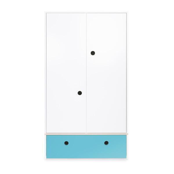 Wookids - Armoire 2 portes COLORFLEX façade tiroir paradise blue