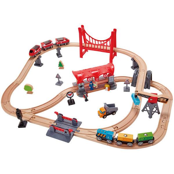 Hape - Circuit de train BUSY CITY RAIL Hape