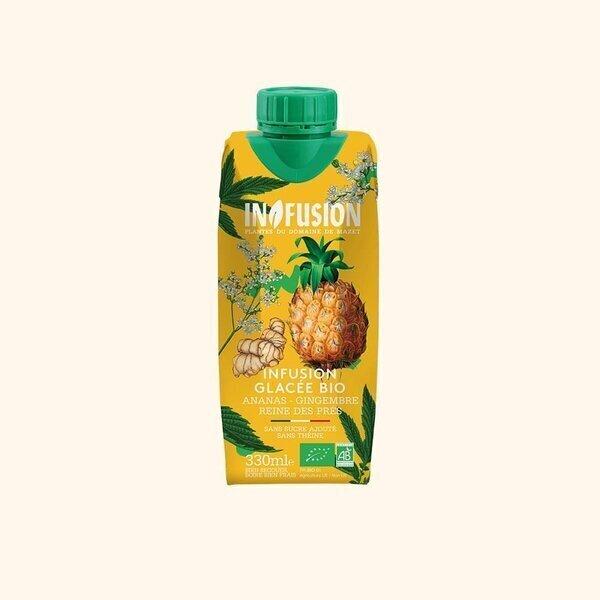 Infusion - Infusion Glacée Ananas Gingembre Reine des Prés Bio - 33cl