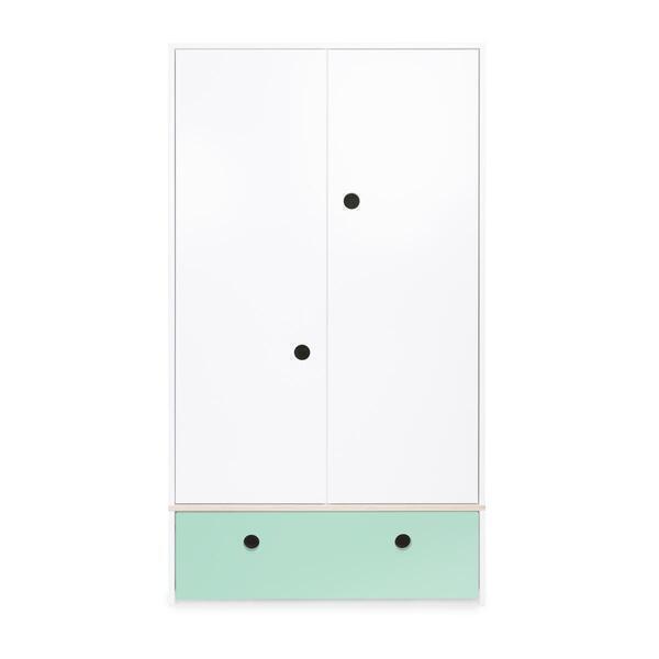 Wookids - Armoire 2 portes COLORFLEX façade tiroir mint