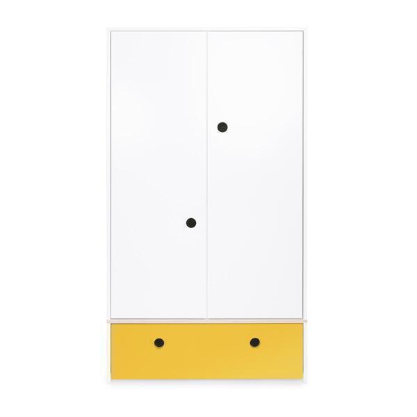 Wookids - Armoire 2 portes COLORFLEX façade tiroir nectar yellow